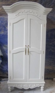 Lemari Pakaian 2 Pintu Putih Duco