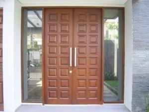 Pintu Rumah Minimalis Kotak Jati