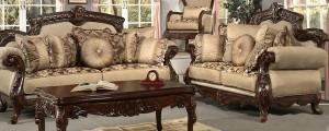 Sofa Tamu Mewah Hitam Doff