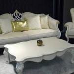 Kursi Tamu Sofa Warna Silver Mewah