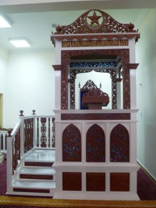 Mimbar Masjid Ukiran Marmer Mewah