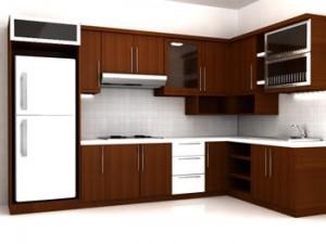 Set Kitchen Jati Simpel Minimalis Mewah