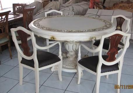 Set Kursi Makan Meja Bundar Duco Putih