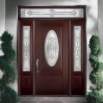 Pintu Rumah Jati Oval Minimalis
