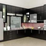 Dapur Set Hitam Doff Minimalis Modern