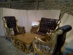 Sofa Tamu Mewah Ukiran Emas