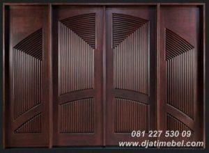 Pintu Rumah Salur Minimalis Kayu Jati