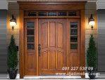 Pintu Rumah Utama Jati Brown