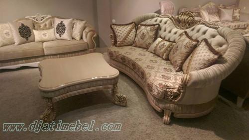 Sofa Tamu Ukiran Klasik Cat Duco
