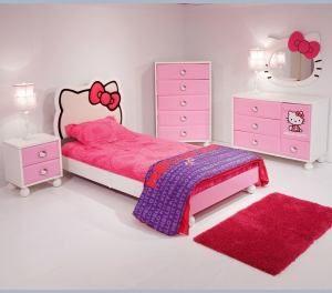 Set Kamar Tidur Hello Kitty Anak Pink