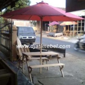 Meja Cafe Lipat Payung Jati Terbaru