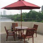 Set Kursi Meja Payung Cafe Mewah