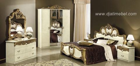 Kamar Tidur Klasik Mewah Terbaru Putih