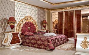 Kamar Tidur Set Istana Ratu Ukiran Emas