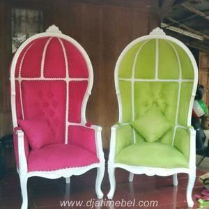 Kursi Sofa Kerodong Raffi Warna Putih