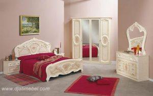Set Kamar Tidur Klasik Ukiran Duco Putih