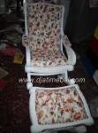 Set Kursi Goyang Mahoni Putih Duco