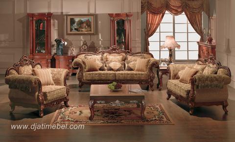 Set Kursi Sofa Tamu Klasik Eropa