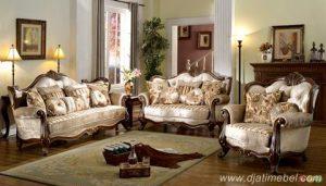 Set Sofa Tamu Raja Jati Ukir Modern