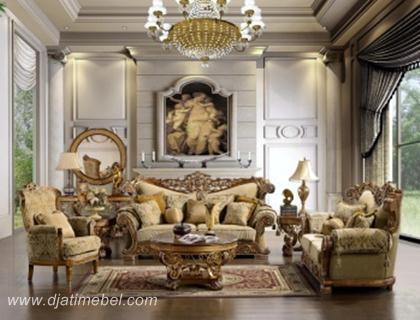 Set Sofa Tamu Ukiran Klasik Jepara