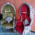 Sofa Model Kubah Mahoni Silver
