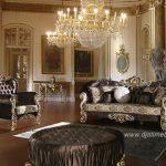 Sofa Ruang Tamu Mewah Kain Bludru