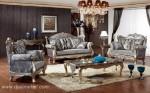 Sofa Tamu Queen Ukiran Silver