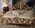 Tempat Tidur Ukiran Emas Terbaru Luxury