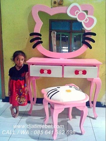 Meja Rias Hello Kitty Anak Pink Cantik