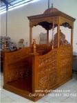 Mimbar Masjid Ukiran Ulir Jati Minimalis