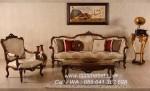Set Kursi Tamu Sofa Klasik Jati Defne