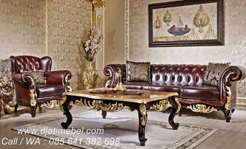 Set Kursi Tamu Sofa Mewah Apolyon Klasik