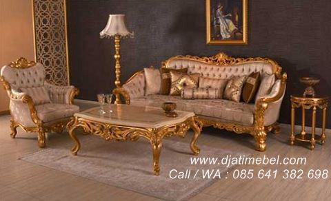 Set Kursi Tamu Sofa Mewah Kral Klasik