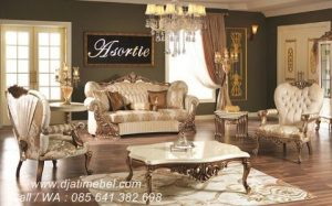 Set Kursi Tamu Sofa Ukiran Klasik Eropa