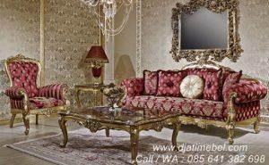 Set Sofa Tamu Mewah Emas Modern