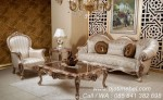 Sofa Tamu Ukiran Silver Mewah Eropa
