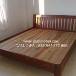 Tempat Tidur Minimalis Jati Model Jari