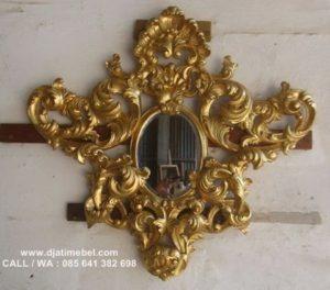 Cermin Mewah Ukir Rahwana Gold