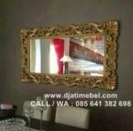 Cermin Ukir Dinding Emas Mewah