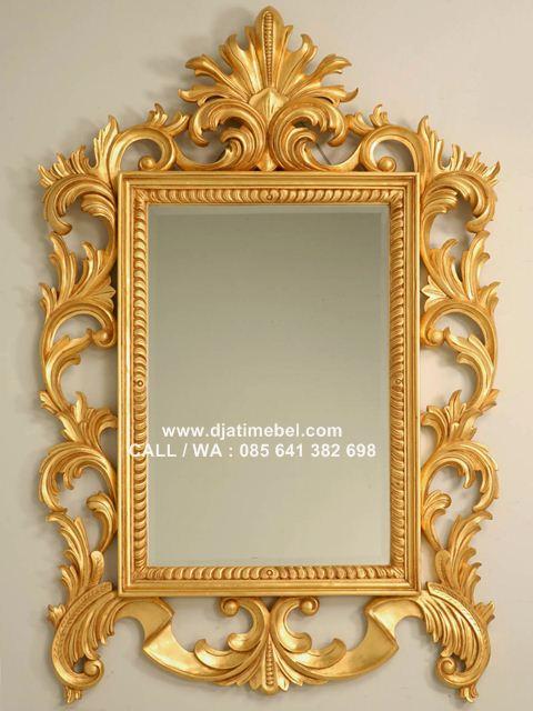 Cermin Ukir Rococo Gold