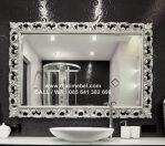 Cermin Ukir Silver Mewah Royal