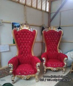 Kursi Sofa Princess Syahrini Ukir Emas