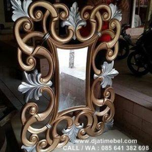Pigura Cermin Dinding Ukir Modern