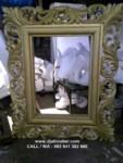 Pigura Cermin Jati Ukir Solid