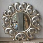 Pigura Cermin Ukir Silver Klasik