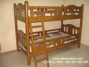 Ranjang Tidur Anak Tingkat Jati Mewah