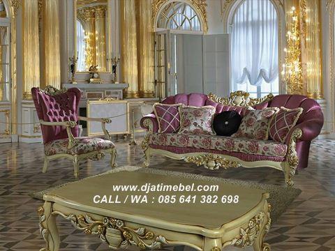 Gambar Set Kursi Tamu Sofa Italian Klasik Modern