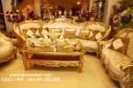 Set Kursi Tamu Sofa Ukiran Emas Celyne