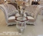 Sofa Mewah Kelopak Bludru Silver Terbaru