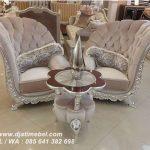 Gambar Sofa Mewah Kelopak Bludru Silver Terbaru
